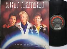 Rock Promo Lp Silent Treatment Human Contact On Red Label