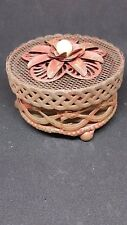 Vintage Style Red Metal Trinket Box  Home Decore Decoration Shabby Style Gift