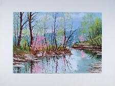 1960's Spring on Greasy Creek BROWN COUNTY Indiana ART PRINT W. Harold Hancock