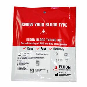 Eldoncard Blood Type Testing Kit, Blood Typing Test Kit w/ Instructions (Single)