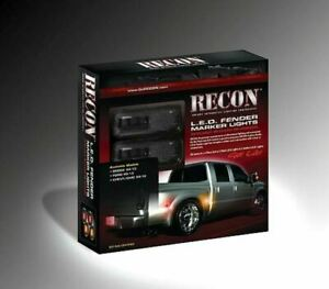 RECON Fit Ford SUPERDUTY 2011-2015 SMOKED DUALLY LED FENDER LIGHTS