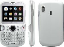 Alcatel One Touch 802A - Qwerty White/Silver (Unlocked) Cellular Phone