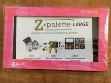 New Ulta Z PALETTE Large Pink Patterned Empty Customizable Magnetic Makeup Case