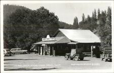 Morse Creek CA Horse Creek Store & Gas Station Eastman RPPC - Old Jeep spg