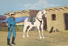 Lone Ranger Original Production Cel 1980's Filmation with Gold Seal And Coa