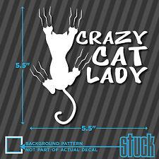 "Crazy Cat Lady - 5.5"" x 5.5"" - vinyl decal sticker window car woman stick figure"