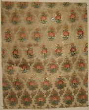 Antique Beautiful 18th C. French Silk Woven Jacquard Fabric (9107)