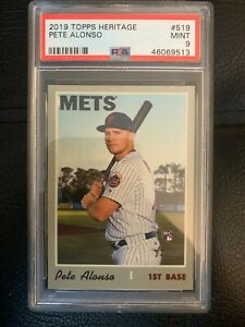 2019 Topps Heritage Pete Alonso Rookie #519 PSA 9 MINT