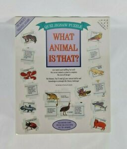 New 1990's What Animal Is That? Quiz Jigsaw Puzzle 504 Diabolical Pieces Vintage
