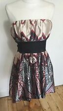 Ladies Size Medium 14 Strapless Pretty Party Faux Satin Dress