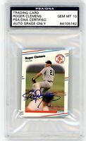 1988 Fleer Roger Clemens Signed PSA/DNA GEM MINT 10 AUTO Yankees Red Sox