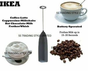 100% IKEA Coffee Latte Hot Chocolate Milk Frother Whisk Frothy Blend Whisker
