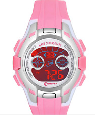 Kids Digital Watches for Girls,7 Colors LED Flashing Waterproof Wrist Watch-Pink