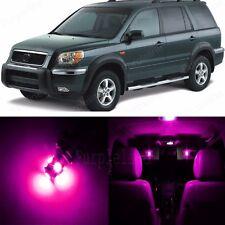 18 x Ultra Pink LED Lights Interior Package Kit For Honda PILOT 2006 - 2008