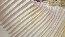 2 yards of cream pre pleated 100% dupioni silk drapery material - free US ship