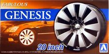 "Aoshima 1/24 Fabulous Genesis 20""  Wheel Rims & Tire Set for Models 5466 (75)"