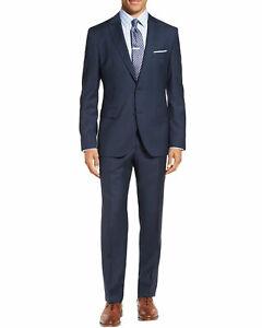 Michael Kors Mens Classic Fit Wool Solid Suit 48R Navy Pants 42 Waist