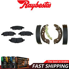 Front Ceramic Brake Pads & Rear Brake Shoes For 2014-2016 Versa Note - Raybestos