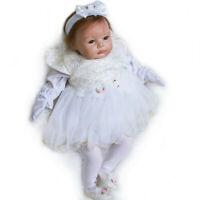 "Real Life Handmade 22"" Reborn Girl Doll Baby Soft Vinyl Silicone Baby Dolls Gift"