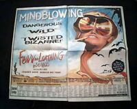 Best FEAR AND LOATHING IN LAS VEGAS Movie Opening Day AD & Review 1998 Newspaper