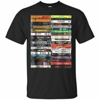 Old School Cassette Tapes Funny MeMe gift  Short Sleeve Black T-Shirt Size S-5XL