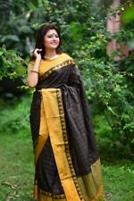 Soft raw silk Indian Wear Designer Sari Bollywood Sari Women Special Wear I 23-1