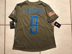 NWT NIKE Detroit Lions Matthew Stafford Salute To Service Jersey Women Medium