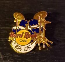 Hard Rock Cafe Pin Hong Kong - Blue Drum Set - Tall 'Hong Kong' - (#3034) 1996