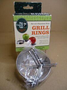 Big Green Egg Stainless Steel Vegetable & Fruit Grilling Rings, Set of 3 Rings