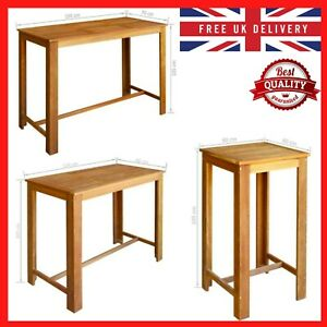 Bar Breakfast Table Kitchen Dining Room Table Solid Acacia Wood Furniture Desk