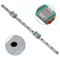 100/175/400/500/700mm Miniature Linear Sliding Rail Guide with Carriage Block zg