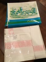 Vintage Pink and white in the box gift towel set Callaway by Milliken