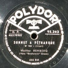 78 RPM / 78 trs Liszt Rehberg Brailowsky Polydor  95203 VG++