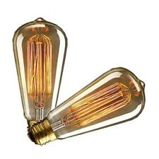 E27 Vintage Edison Bulb Dimmable 60W  Squirrel Cage Filament- 2 Pack