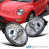 For VW 98-05 Beetle Replacement Halo Projector LED Headlights Head Lamps Clear