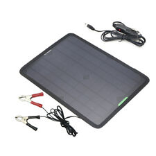 18V 10W Portable Solar Panel Power Battery Charger Backup for Car Marine Boat RV
