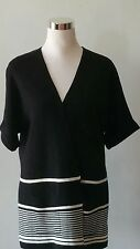 Talbots Cardigan $129.00 Top Open Front Cotton Blend Size L12-14 NEW TAG