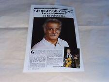 GEORGES BRASSENS - Publicité de magazine / Advert CROQUENOTE ET CASSETTE !!!!