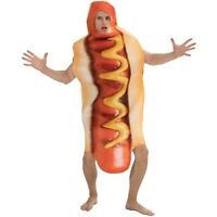Unisex Adult Hot Dog Costume Fancy Dress Halloween Cosplay Party Dress Up