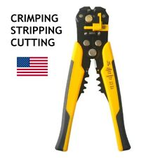 Self Adjustable Automatic Cable Wire Crimping Tool Stripping Plier Cutting