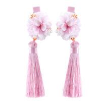 New Hair Clips Chinese Tassel Flowers Hairpin Girls Children Hair Accessory 6L