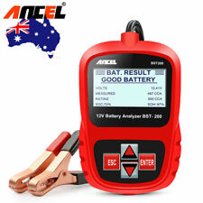 AU 12v LCD Car Automotive Battery Load Tester Analyzer Digital Diagnostic System