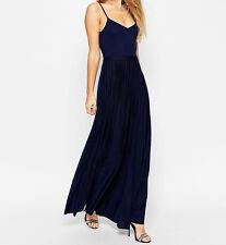 Branded Cami Maxi Dress with Pleated Skirt UK6/EU34/US2 Black    zz6