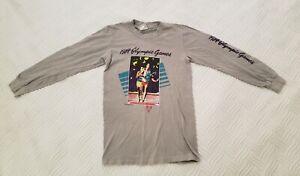 1984 Los Angeles Summer Olympics Adult Tee Shirt Levis Runner #5 (Size SMALL) LA
