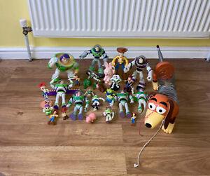 Toy Story Toys Figures Bundle Woody Buzz Lightyear Slinky Rex Alien Pig Wheezy