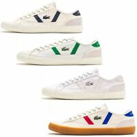 Lacoste Sideline 119 CMA Metallic Lettered Heel Canvas & Leather White Trainers