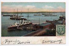 CANADA carte postale ancienne HALIFAX British fleet in harbor