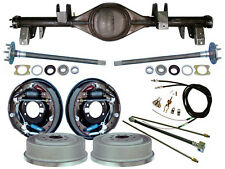 """CURRIE 65-70 IMPALA REAR END & 11"""" DRUM BRAKES,LINES,PARKING CABLES,AXLE,BEL AIR"""