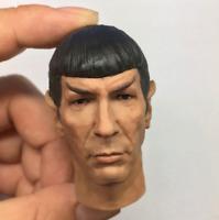 "Custom 1/6 Scale Spock Head Sculpt Star Trek Leonard Nimoy Fit 12"" Figure Body"