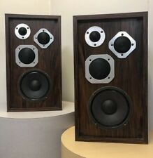 Pair Vintage 1970s 3-way Speakers Aluminum Audiophile Tested Rare